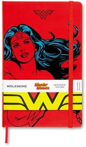 Moleskine Limited Edition Notebook Wonder Woman, Large, Ruled, Red, Hard Cover (5 x 8.25) (DC)