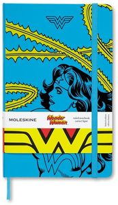 Moleskine Limited Edition Notebook Wonder Woman, Large, Ruled, Blue, Hard Cover (5 x 8.25) (DC)